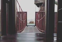 Παιδική χαρά, γέφυρα, βάθος στοκ εικόνες