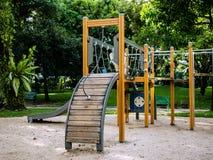 Παιδική χαρά για το παιδί στο δημόσιο πάρκο Στοκ Εικόνες
