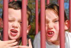 παιδική χαρά κατσικιών ανόητη Στοκ εικόνες με δικαίωμα ελεύθερης χρήσης