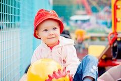 παιδική χαρά κοριτσακιών Στοκ εικόνα με δικαίωμα ελεύθερης χρήσης