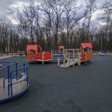 Παιδική χαρά παιδιών στο πάρκο Pushkin σε Kramatorsk στοκ φωτογραφίες με δικαίωμα ελεύθερης χρήσης