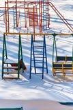 Παιδική χαρά παιδιών ` s snowdrifts Στοκ εικόνα με δικαίωμα ελεύθερης χρήσης