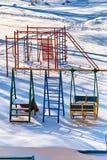 Παιδική χαρά παιδιών ` s snowdrifts Στοκ φωτογραφία με δικαίωμα ελεύθερης χρήσης
