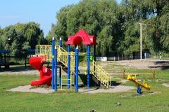 Παιδική χαρά σε ένα πάρκο στο Κίεβο, Ουκρανία Στοκ Εικόνα