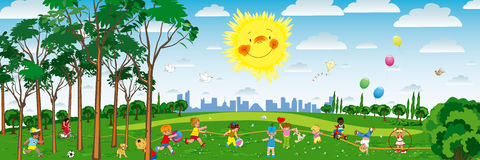 παιδική χαρά απεικόνιση αποθεμάτων