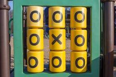 Παιδικός σταθμός παιδικών χαρών σπασμός-TAC-toe παιχνιδιών Στοκ εικόνες με δικαίωμα ελεύθερης χρήσης