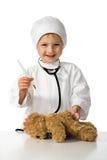 παιχνίδια γιατρών παιδιών Στοκ Εικόνα