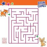 Παιχνίδια εγκεφάλου του λαβυρίνθου γατών Στοκ φωτογραφία με δικαίωμα ελεύθερης χρήσης