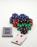 παιχνίδια καρτών Στοκ φωτογραφία με δικαίωμα ελεύθερης χρήσης