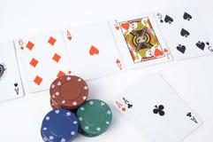 παιχνίδια καρτών Στοκ εικόνα με δικαίωμα ελεύθερης χρήσης