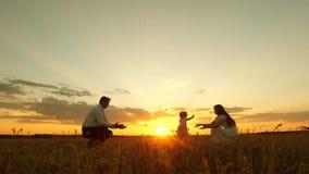 Παιχνίδια κορών με το mom και τον μπαμπά nazakate οι γονείς μαθαίνουν να περπατούν ένα παιδί, ένα μικρό κορίτσι λαμβάνει τα πρώτα απόθεμα βίντεο