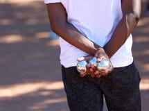 Παιχνίδια με τις σφαίρες αποκαλούμενες Boules στοκ φωτογραφία με δικαίωμα ελεύθερης χρήσης