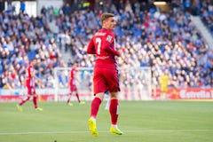 Παιχνίδια του Antoine Griezmann στην αντιστοιχία Λα Liga μεταξύ RCD Espanyol και Ατλέτικο de Μαδρίτη Στοκ Εικόνες