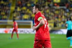 Παιχνίδια του James Milner στη ημιτελική αντιστοιχία ένωσης της Ευρώπης μεταξύ Villarreal του ΘΦ και του Λίβερπουλ FC Στοκ Φωτογραφίες
