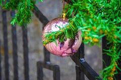 Παιχνίδια Χριστουγέννων, σφαίρες ενός λύκου Στοκ Εικόνα