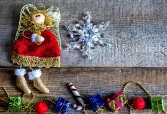 Παιχνίδια Χριστουγέννων, χειμερινή διάθεση Στοκ εικόνα με δικαίωμα ελεύθερης χρήσης