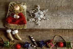 Παιχνίδια Χριστουγέννων, χειμερινή διάθεση Στοκ φωτογραφίες με δικαίωμα ελεύθερης χρήσης