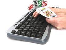 παιχνίδια on-line Στοκ Εικόνες