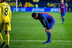 Παιχνίδια Turan Arda στην αντιστοιχία Λα Liga μεταξύ Villarreal του ΘΦ και FC Βαρκελώνη Στοκ Φωτογραφία