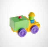 Παιχνίδι ή παιχνίδι αυτοκινήτων στο υπόβαθρο Στοκ Φωτογραφίες