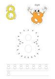 Παιχνίδι αριθμών για το σχήμα οκτώ διανυσματική απεικόνιση