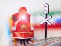 παιχνίδι ατμού μηχανών κινημ&alph Στοκ Εικόνες