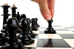 παιχνίδι ατόμων σκακιού Στοκ εικόνα με δικαίωμα ελεύθερης χρήσης
