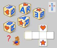 Παιχνίδι γρίφων λογικής για τα παιδιά και τους ενηλίκους Η ανάγκη να συρθούν οι επιστολές στα άσπρα τετράγωνα έτσι το σχέδιο αντι διανυσματική απεικόνιση