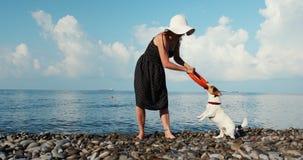 Παιχνίδι γυναικών με το σκυλί της φιλμ μικρού μήκους