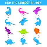 Παιχνίδι διασκέδασης για τα παιδιά Βρείτε τη σωστή σκιά δυσαρεστημένη απεικόνιση κινούμενων σχεδίων αγοριών λίγο διάνυσμα Χαριτωμ απεικόνιση αποθεμάτων