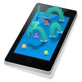 Παιχνίδι δράκων θάλασσας στο έξυπνο τηλέφωνο Στοκ φωτογραφία με δικαίωμα ελεύθερης χρήσης