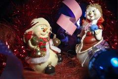 παιχνίδι δύο Χριστουγέννω&n Στοκ Εικόνες