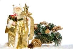 παιχνίδι ελκήθρων santa Claus Στοκ Φωτογραφία