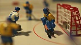 Παιχνίδι επιτραπέζιου χόκεϋ απόθεμα βίντεο