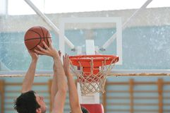 Παιχνίδι καλαθοσφαίρισης Στοκ Φωτογραφίες
