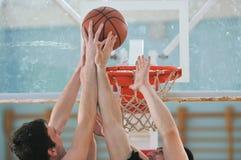 Παιχνίδι καλαθοσφαίρισης Στοκ φωτογραφία με δικαίωμα ελεύθερης χρήσης