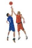 παιχνίδι καλαθοσφαίριση& Στοκ Εικόνες