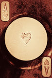 παιχνίδι καρδιών καρτών άσσ&omega Στοκ φωτογραφία με δικαίωμα ελεύθερης χρήσης