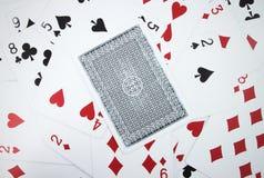 παιχνίδι καρτών καρτών Στοκ Εικόνα