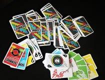Παιχνίδι ` καρτών πινάκων θλιβερό! ` στοκ φωτογραφία