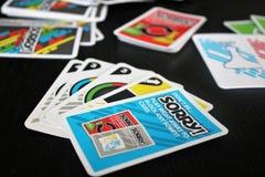 Παιχνίδι καρτών πινάκων θλιβερό! στοκ φωτογραφία με δικαίωμα ελεύθερης χρήσης
