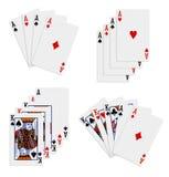 παιχνίδι καρτών διανυσματική απεικόνιση