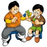 παιχνίδι κατσικιών καρτών Στοκ Εικόνα