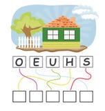 Παιχνίδι λέξης με το σπίτι Στοκ εικόνα με δικαίωμα ελεύθερης χρήσης