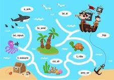 Παιχνίδι λαβυρίνθου εκπαίδευσης απεικόνιση αποθεμάτων