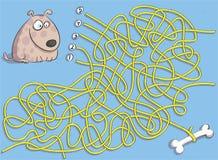 Παιχνίδι λαβυρίνθου κουταβιών και κόκκαλων διανυσματική απεικόνιση