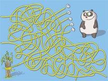 Παιχνίδι λαβυρίνθου της Panda Στοκ Εικόνες