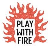 Παιχνίδι με τη φωτιά 001 Στοκ Εικόνες