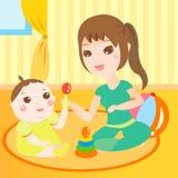 παιχνίδι μητέρων μωρών Στοκ φωτογραφίες με δικαίωμα ελεύθερης χρήσης