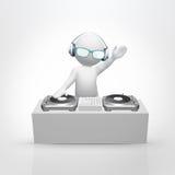 παιχνίδι μουσικής του DJ Στοκ Εικόνες